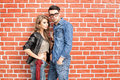Attractive fashionable couple dressed casual Stock Image