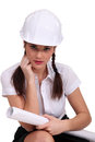 Attractive female architect Royalty Free Stock Photo