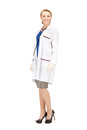 Attractive female doctor bright picture of an Royalty Free Stock Photography