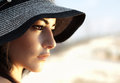 Attractive female wearing hat Royalty Free Stock Photography
