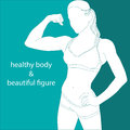Attractive girl athletic silhouette of a woman build Stock Images
