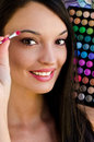 Attractive girl with make-up Royalty Free Stock Photos