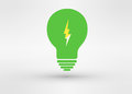 An attractive green energy logo symbol with lightning Stock Photography