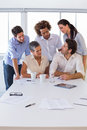Attractive group of business people working together in the workplace Stock Image