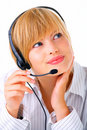 Attractive hotline operator Royalty Free Stock Photos