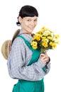 Attractive lady gardener Stock Photos