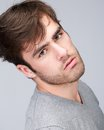 Attractive male fashion model portrait of an Royalty Free Stock Photos