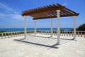 Attractive pergola by the sea in south florida Stock Photos