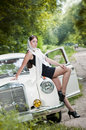 Attractive pin-up styled girl Royalty Free Stock Photo