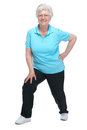 Attractive senior woman at health club Royalty Free Stock Image
