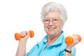 Attractive senior woman at health club Royalty Free Stock Photo