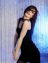 Attractive sexy woman clubbing dancing in disco Royalty Free Stock Images