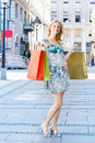 Attractive shopping woman Royalty Free Stock Image
