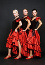 Attractive spanish trio Royalty Free Stock Photo