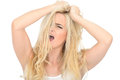 Attractive Stressed Aggressive Young Woman Looking Unhappy and Frustrated Royalty Free Stock Photo
