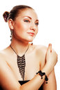 Attractive woman with accessorize Royalty Free Stock Photos