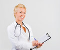 Attractive woman doctor portrait Stock Photos