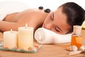 Attractive woman getting spa treatment. Royalty Free Stock Photo
