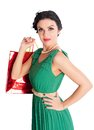 Attractive woman holding bags Stock Photography