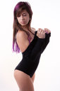 Attractive Woman in Leotard Royalty Free Stock Photo