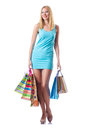 Attractive woman after  shopping Royalty Free Stock Images