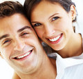 Attractive young couple smiling together Stock Photo