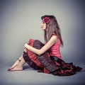 Attractive young fashion model Royalty Free Stock Image