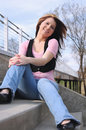 Attractive young lady outdoors 003 Stock Photo