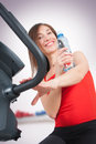 Attractive young woman doing cardio workout Stock Image