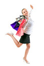 Attractive young woman happiness after shopping Stock Photos