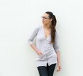 Attractive young woman wearing glasses portrait of an Royalty Free Stock Photo