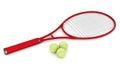 Attrezzatura di tennis Fotografie Stock Libere da Diritti