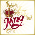 Attribute Of King Design Royalty Free Stock Photo