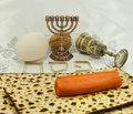Attributes of jewish passover seder holidays is one the main Royalty Free Stock Image