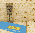 Attributes of jewish passover seder holidays is one the main celebrations Stock Images