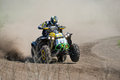 Atv action april in dnepropetrovsk hosted the third round of the championship of ukraine for country cross Royalty Free Stock Photo