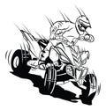 ATV moto rider Royalty Free Stock Photo