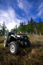 ATV in the mountains Royalty Free Stock Photography