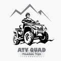 Atv, quad bike stylized silhouette vector Royalty Free Stock Photo