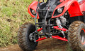 ATV ready for action Royalty Free Stock Photo