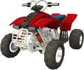 ATV Recreational Vehicle Illustration Isolated Royalty Free Stock Photo