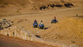 Atv trip in the desert of jordan next to the red sea Stock Photography