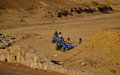 Atv trip in the desert of jordan next to the red sea Stock Image
