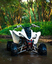 ATV in water Royalty Free Stock Photography