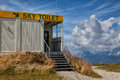Atypical toilet on top of a mountain Stock Photos