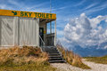 Atypical toilet on top of a mountain in planai austria Royalty Free Stock Image