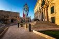 Auberge de castille is one of the seven original auberges built in valletta malta for langues order saint john Stock Images