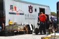 Auburn university war eagle motorsports team members work on their sae baja machine Stock Images