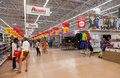 Auchan samara store russia august in shopping center ambar french distribution network unites more than shops Royalty Free Stock Images