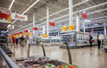 Auchan samara store russia august in shopping center ambar french distribution network unites more than shops Stock Image